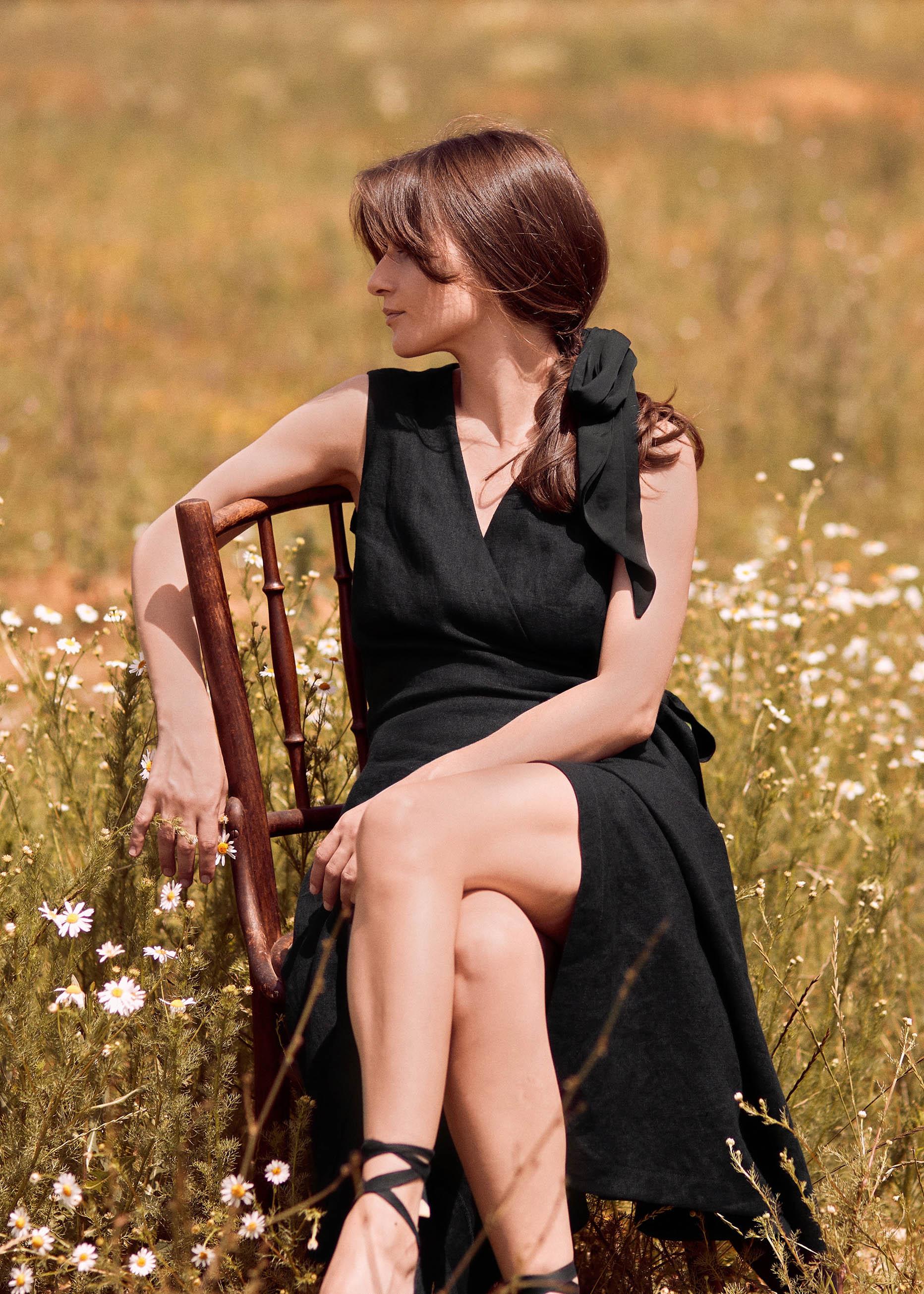 Chloe Wrap Dress Black