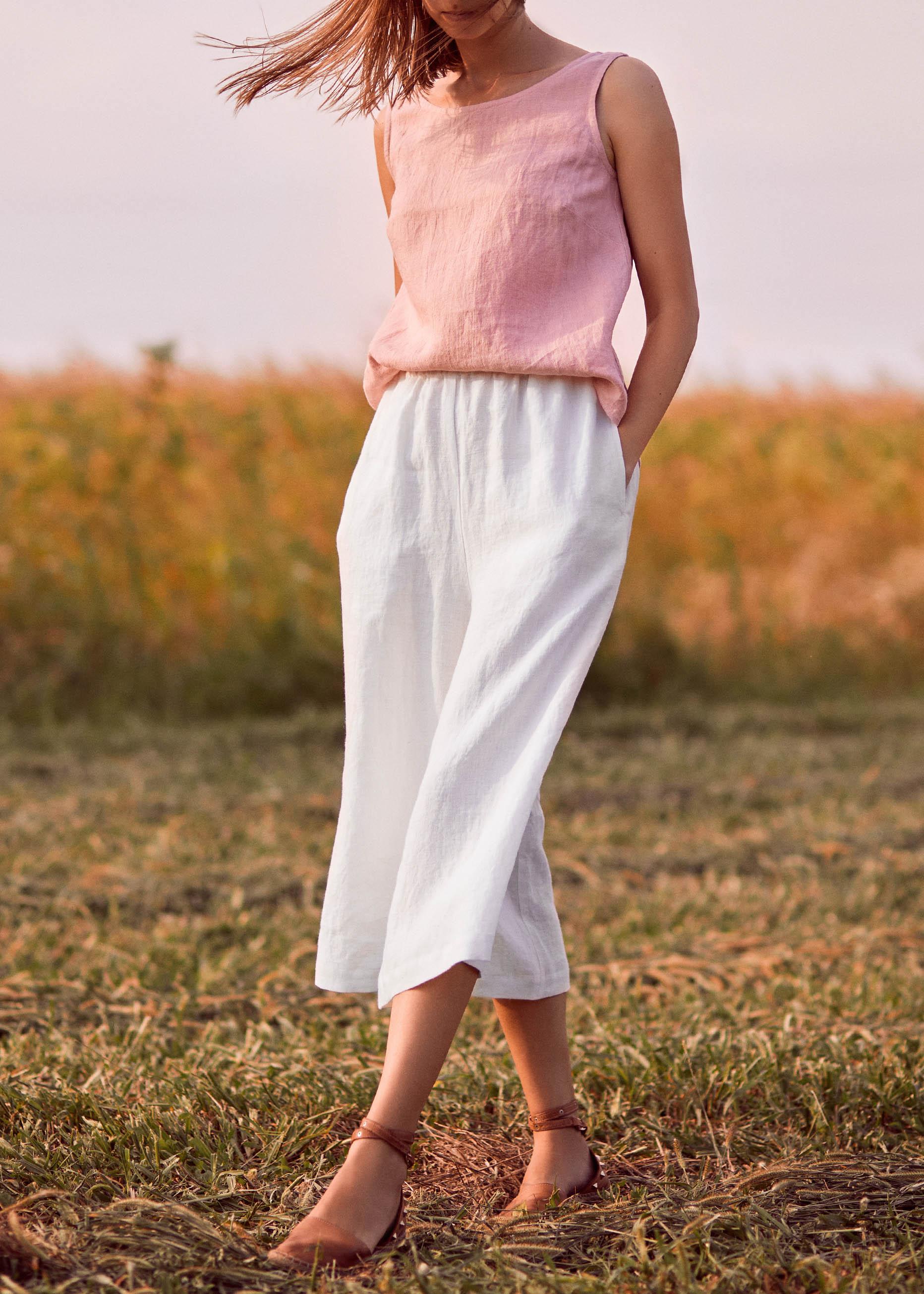Ashley Cropped Trouser White