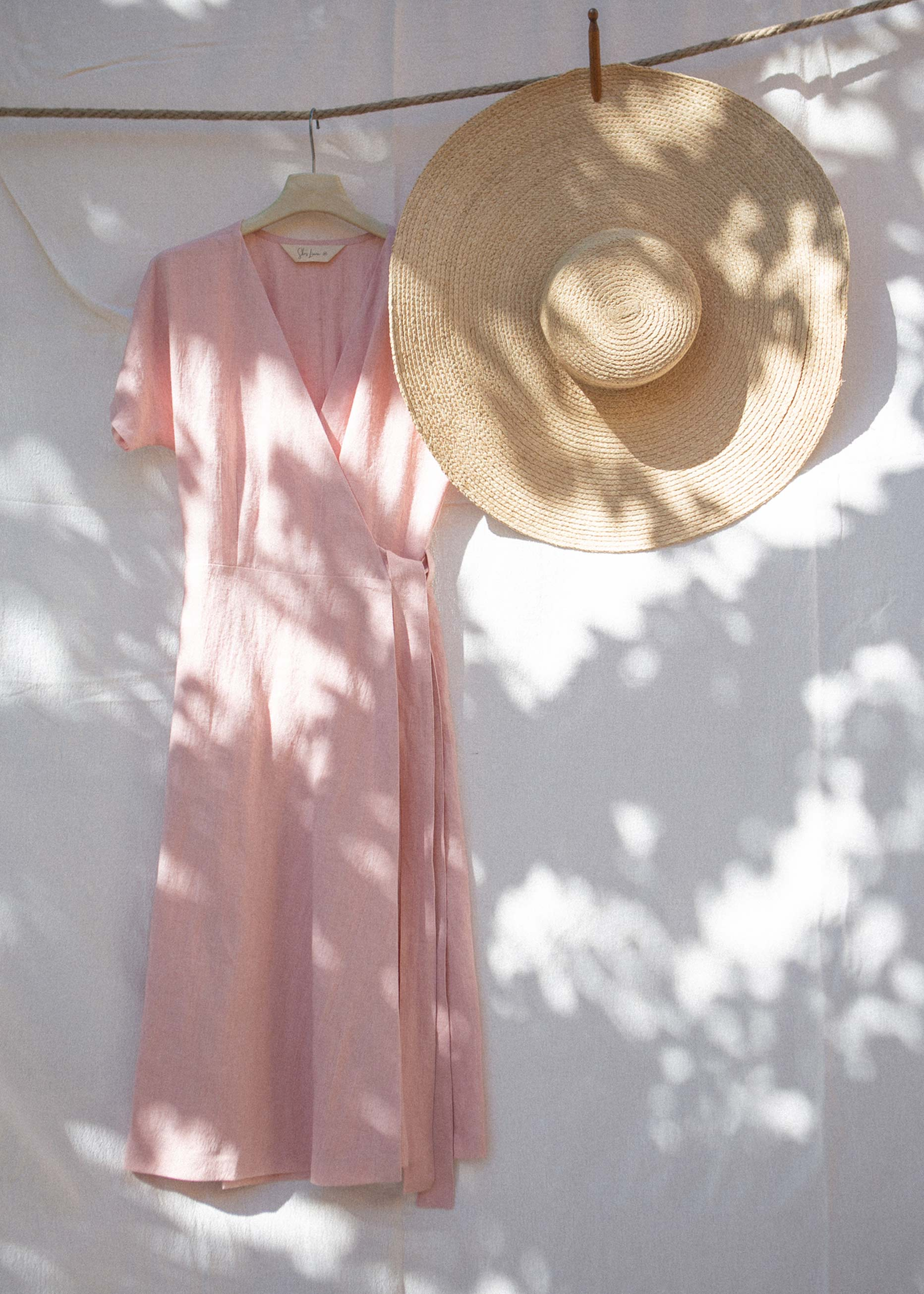 Claire Wrap Dress Blush Pink