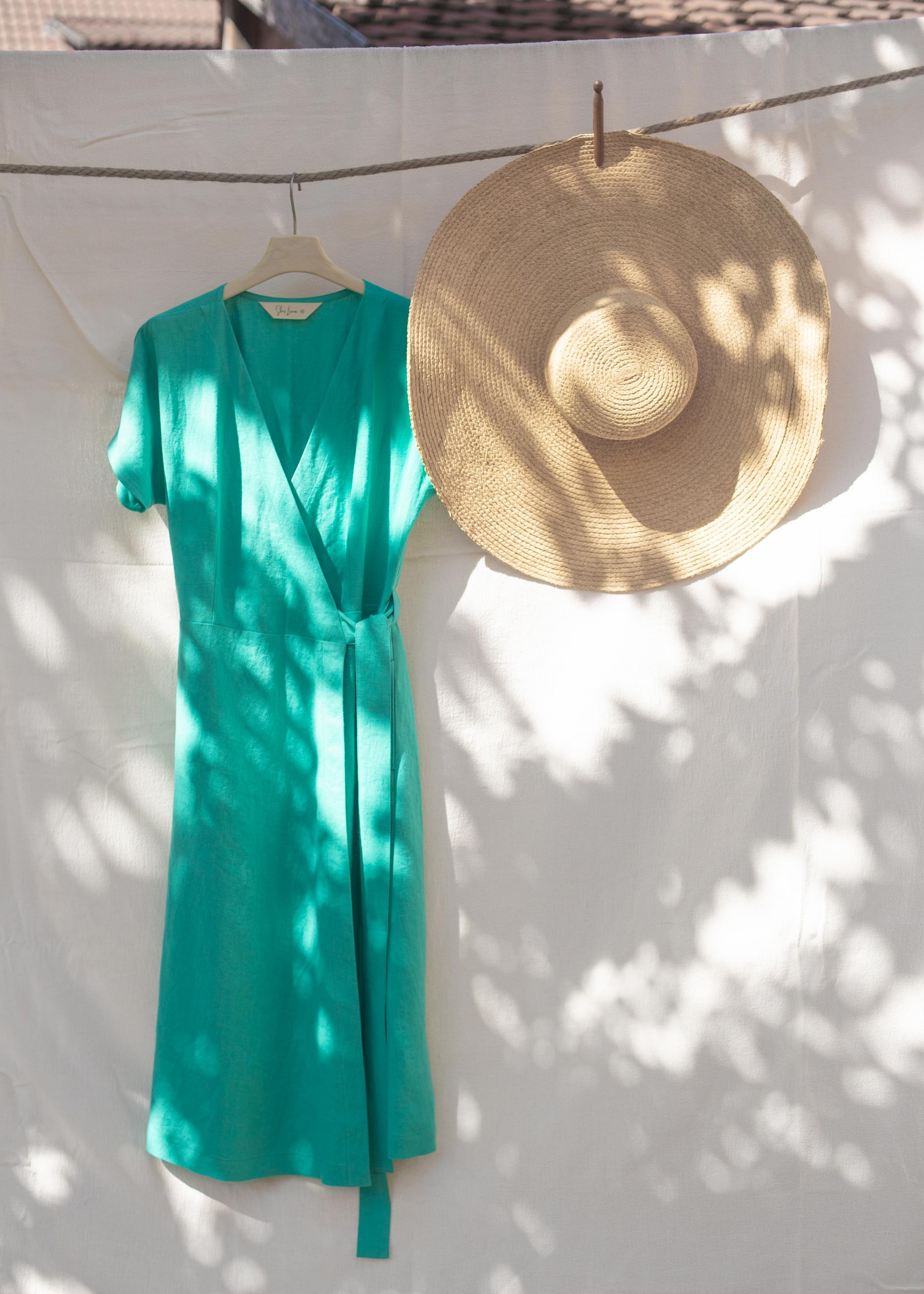 Claire Wrap Dress Turquoise